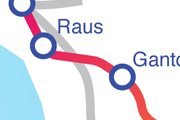 Linjen Gantofta - Raus karta