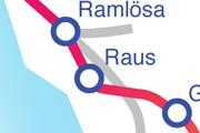 Linjen Raus - Ramlösa karta