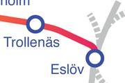 Linjen Trollenäs � Eslöv karta
