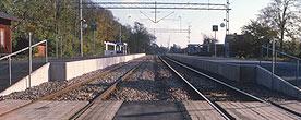 Billeberga station: plattformar och spår