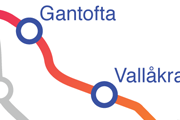 Linjen Vallåkra - Gantofta karta