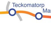 Linjen Teckomatorp - Marieholm karta