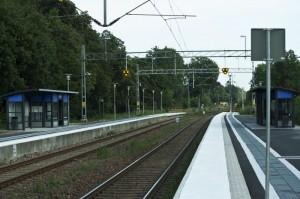Billeberga station: spår och plattformar