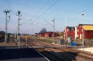 Billeberga station 1987, vy mot väster