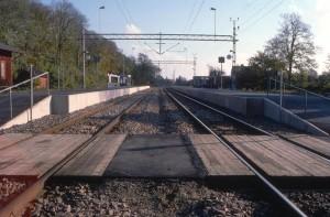 Billeberga station, plattformarna