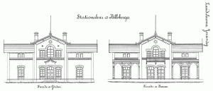 Billeberga stationshus ritning
