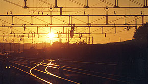Solnedgång över Billeberga Station