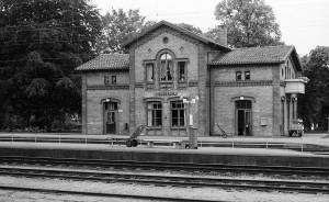 Billeberga station från plattformssidan 1974