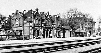 Teckomatorps station på 1920-talet