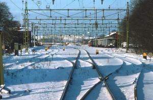 Billeberga station i snö 1976