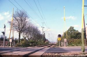 järnvägsövergången med bommar