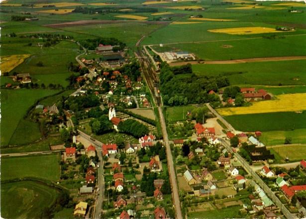 Flygfoto av Billeberga 1970