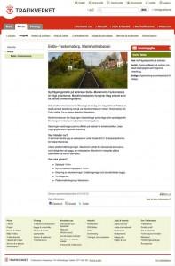 Sida om Marieholmsbanan frå Trafikverkets webbplats