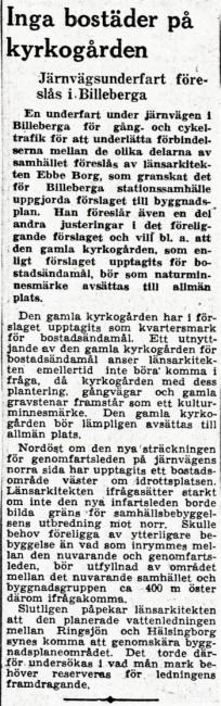 Tidningsartikel ur Sydsvenskan 17 januari 1951