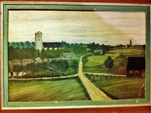 Billeberga cirka 1900, oljemålning