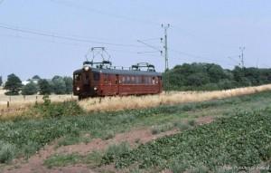 Tåg Billeberga - Landskrona vid Lilla Hörstad.
